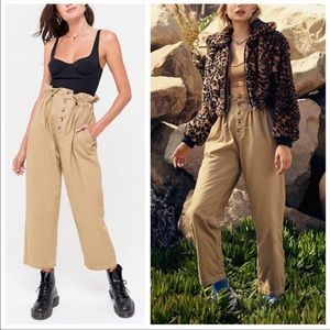 Urban Outfitters Terra High-Rise Paper Bag Pants M